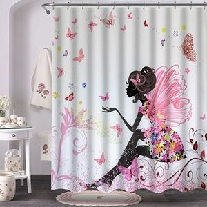 Fairy Girl with Wings in a Floral Dress Fantasy